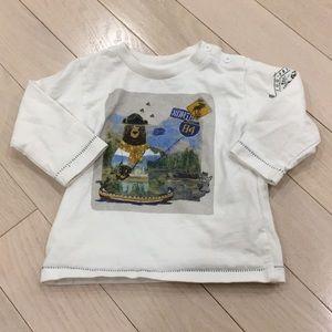 5/$30 Boys White Shirt 6-9
